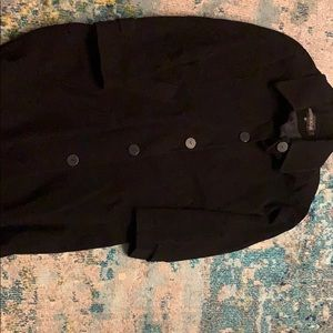 Kristen Blake size 12 black trench coat